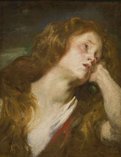 Sir Anthony van Dyck - Young Woman Resting her Head on her hand (Probably the Penitent Magdalene)