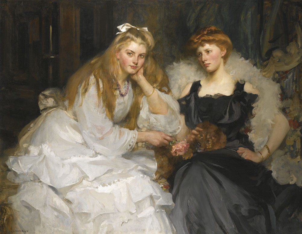 Sir James Jebusa Shannon - Portraits of Lorna and Dorothy Bell, Daughters of W. Heward Bell