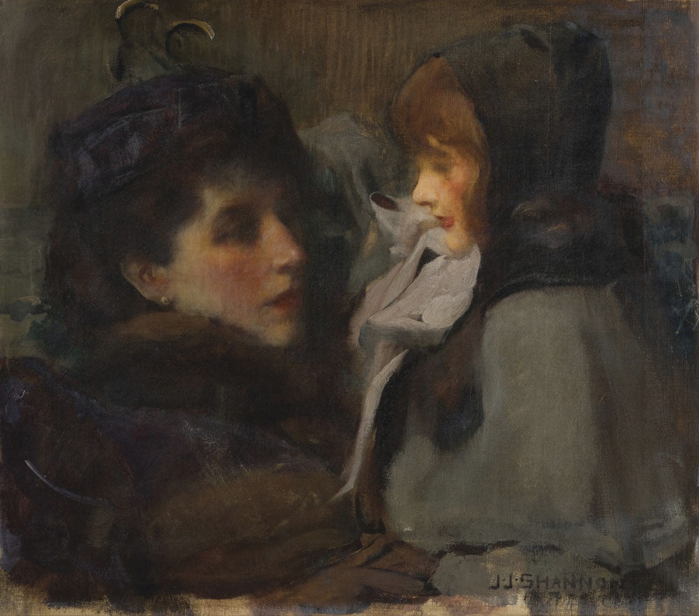 Sir James Jebusa Shannon - The Artist's Wife and Daughter