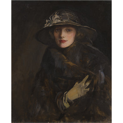 Sir John Lavery - A Lady in Brown