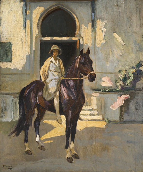Sir John Lavery - Alice on Sultan, Tangier