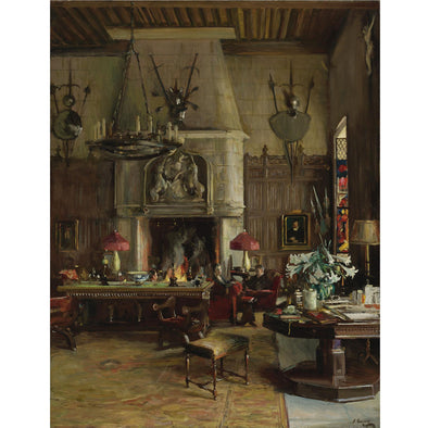 Sir John Lavery - The Gothic Room