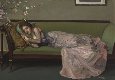 Sir John Lavery - The Green Sofa