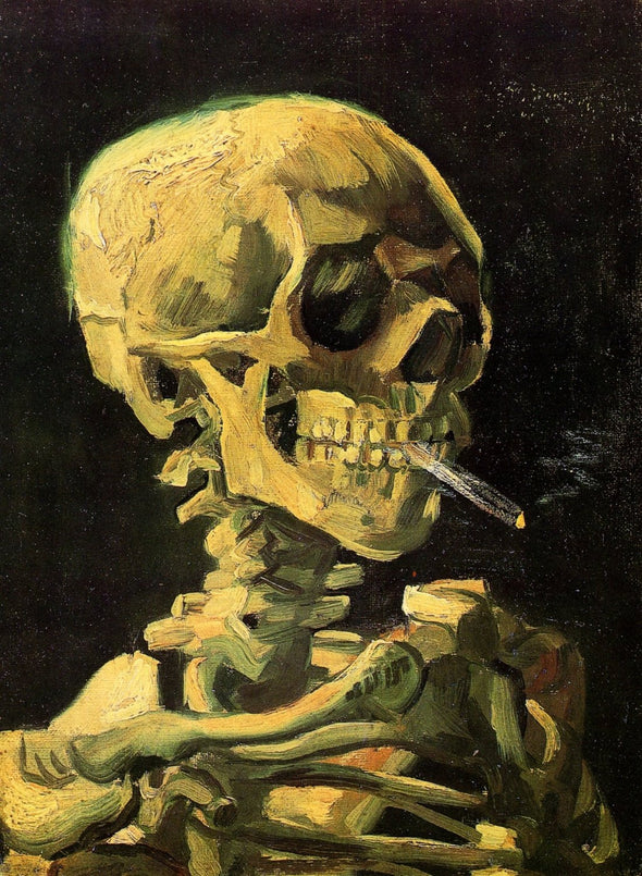 Vincent van Gogh - Skull with Burning Cigarette