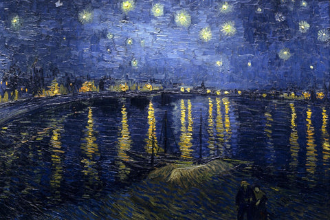 Vincent van Gogh - Night over the Rhone