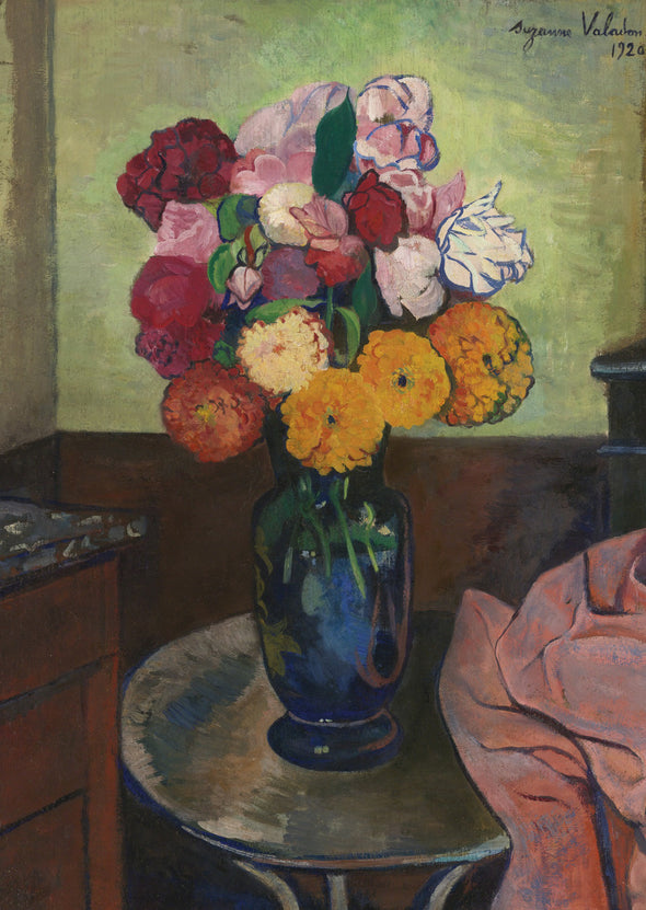 Suzanne Valadon - Flowers on a Round Table