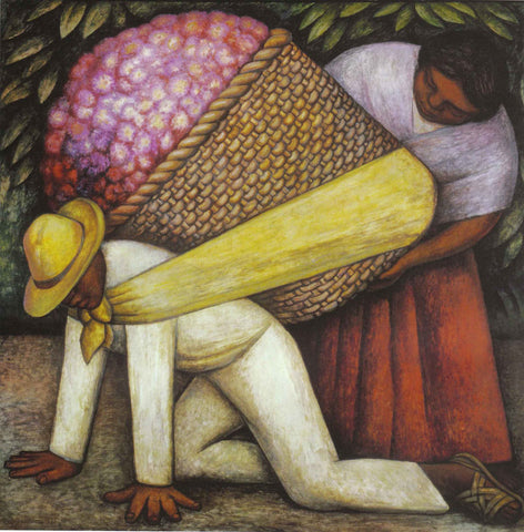 Diego Rivera - The Flower Carrier (formerly The Flower Vendor)