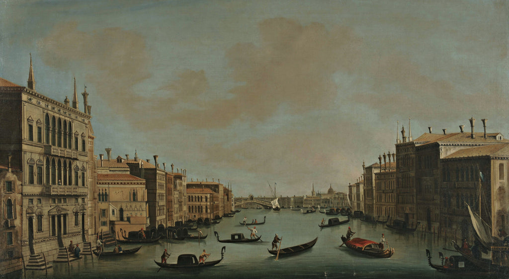 Canaletto - The Grand Canal Looking Northeast from the Palazzo Balbi to the Rialto Bridge