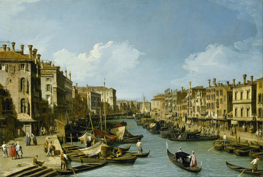 Canaletto - The Grand Canal near the Rialto Bridge, Venice