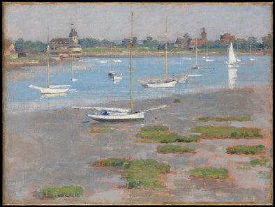 Theodore Robinson - Low Tide, Riverside Yacht Club