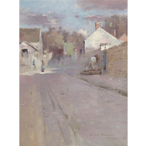 Theodore Robinson - Street in Barbizon
