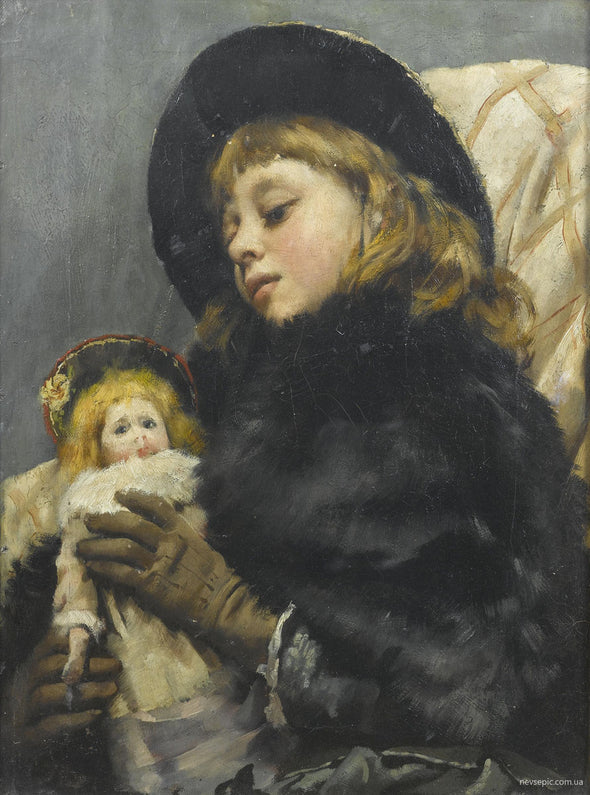Thomas Benjamin Kennington - Girl with doll