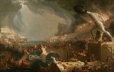 Thomas Cole - Course Of Empire Destruction