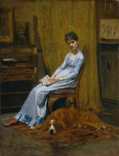 Thomas Eakins - The Artist's Wife and His Setter Dog