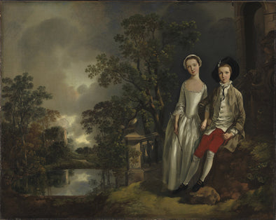 Thomas Gainsborough - Heneage Lloyd and his sister Lucy