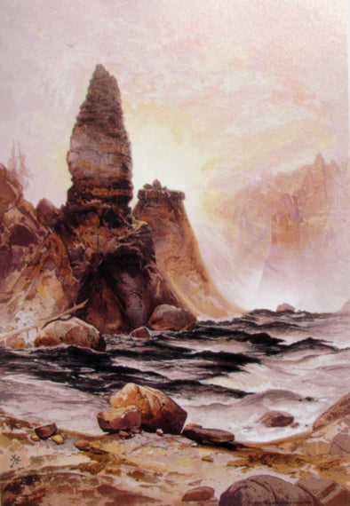 Thomas Moran - Tower Fall at Yellow Stone
