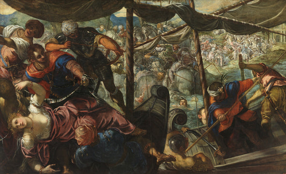 Tintoretto - Abduction of helen