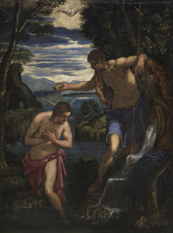 Tintoretto - Baptism of Christ