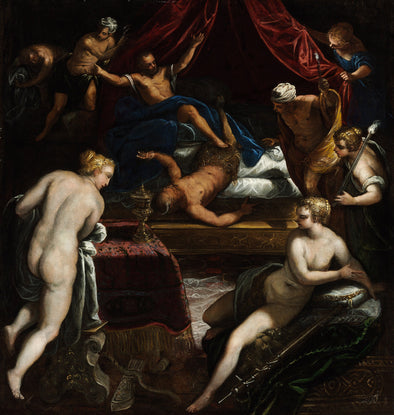 Tintoretto - Hercules Expelling the Faun from Omphale's Bed