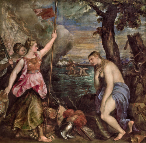 Titian - Religion succoured by Spain