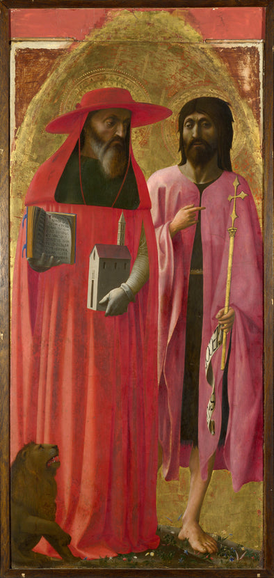 Tommaso Masaccio - Saints Jerome and John the Baptist