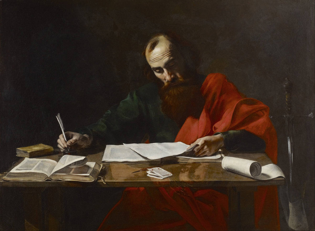 Valentin de Boulogne - Saint Paul Writing His Epistles