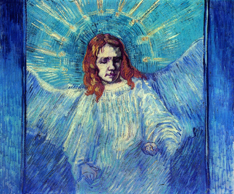 Vincent van Gogh - Half Figure of an Angel after Rembrandt