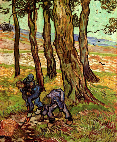 Vincent van Gogh - Two Diggers Among Trees