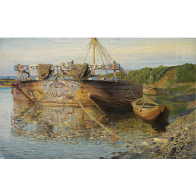 Vasily Polenov - Barge On The River Oka