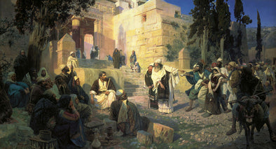 Vasily Polenov - Christ and Woman Taken in Adultery