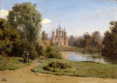 Vasily Polenov - Church by a Lake
