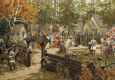 Viktor Vasnetsov - Blessing of Dmitri Donskoi Before Kulikovo by Lissner