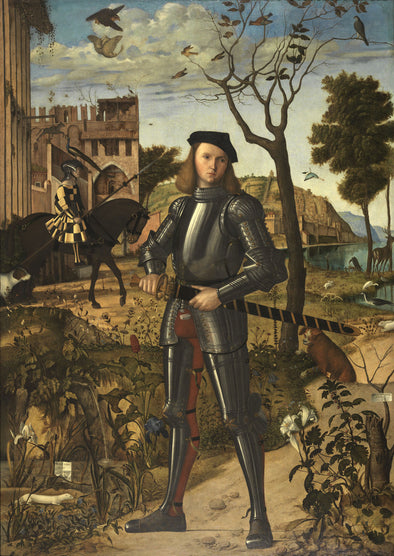 Vittore Carpaccio - Young Knight in a Landscape