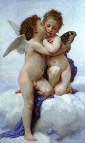 William-Adolphe Bouguereau - Kiss (L'Amour et Psyché, enfants)