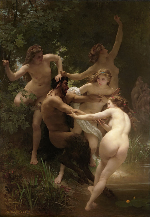 William-Adolphe Bouguereau - Nymphs and Satyr