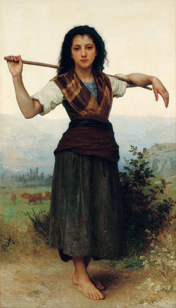 William-Adolphe Bouguereau - The Shepherdess