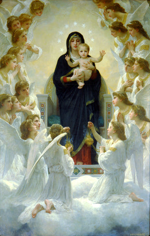 William-Adolphe Bouguereau - The Virgin with Angels