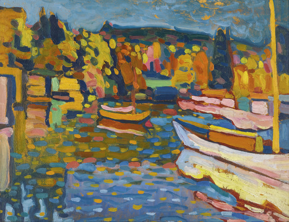 Wassily Kandinsky - Study For Autumn Landscape With Boats