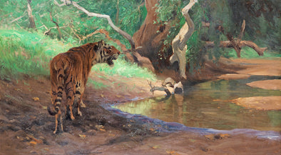 Wilhelm Kuhnert - Tiger in the Jungle