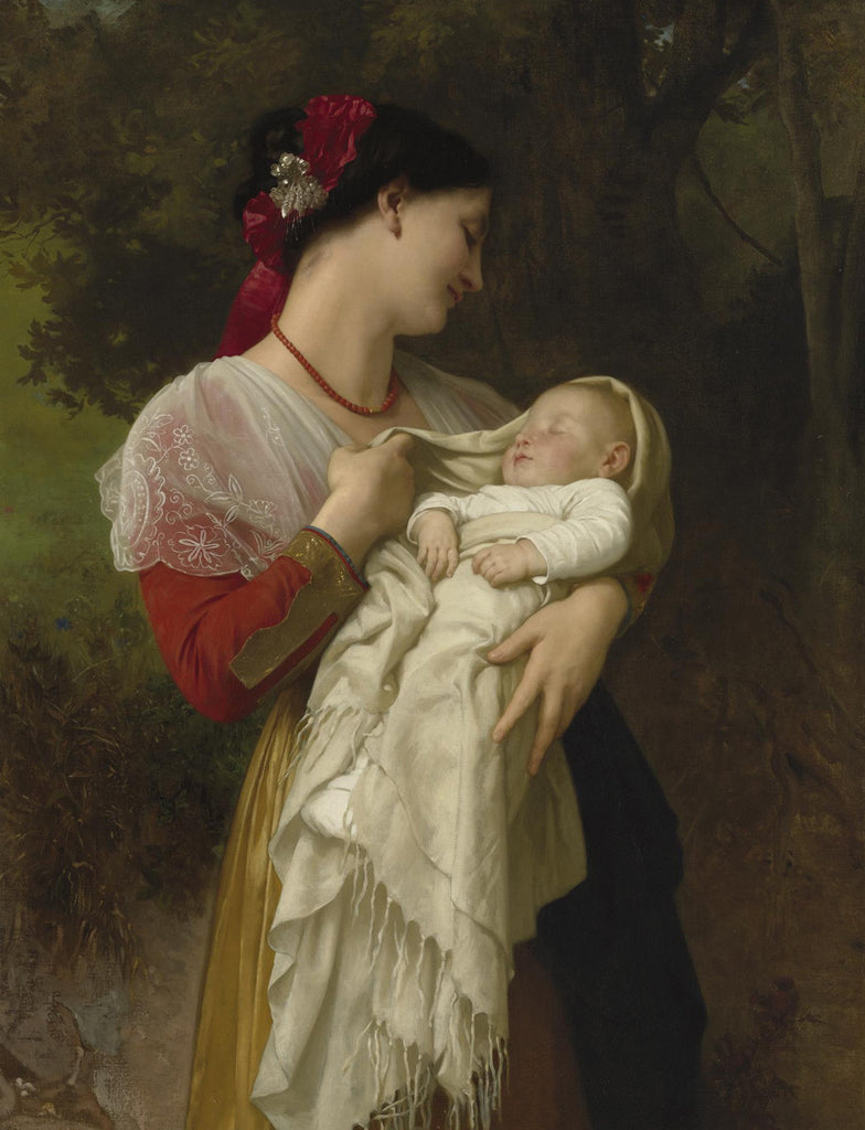 William-Adolphe Bouguereau - Admiration Maternelle