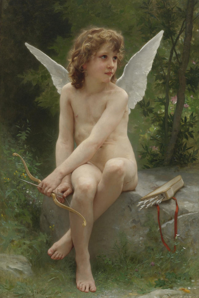 William-Adolphe Bouguereau - Amour a l'affut (Love on the Look Out)