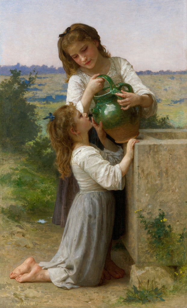 William-Adolphe Bouguereau - At the Fountain
