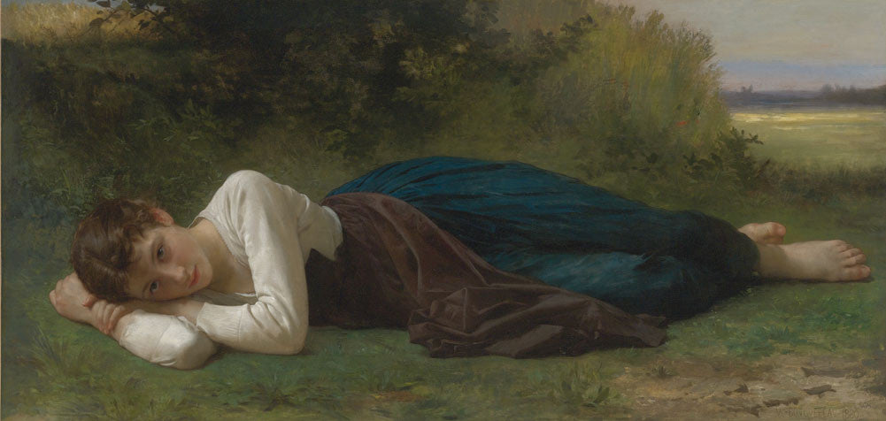 William-Adolphe Bouguereau - Girl Lying