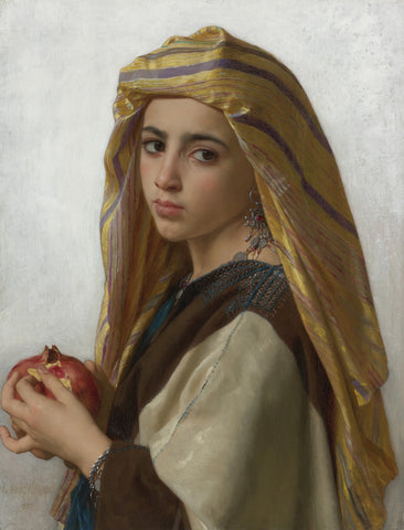 William-Adolphe Bouguereau - Girl with a Pomegranate