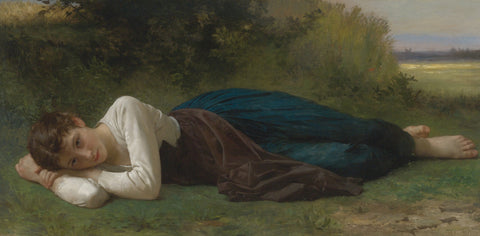 William-Adolphe Bouguereau - Le Repos (Jeune Fille Couchée)