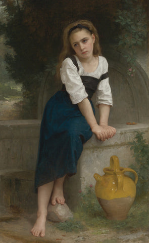 William-Adolphe Bouguereau - Orpheline a La Fontaine
