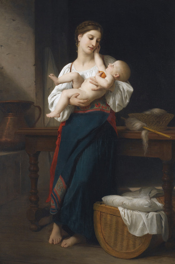 William-Adolphe Bouguereau - Premières Caresse