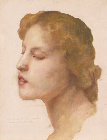 William-Adolphe Bouguereau - Study of a Woman's Head