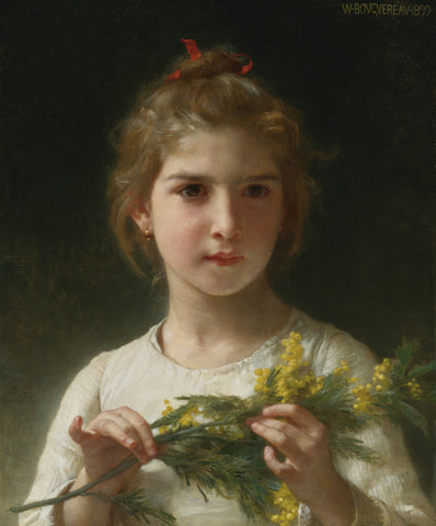 William-Adolphe Bouguereau - The Mimosa Flower