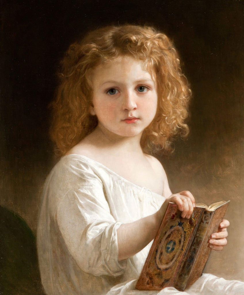 William-Adolphe Bouguereau - The Story Book